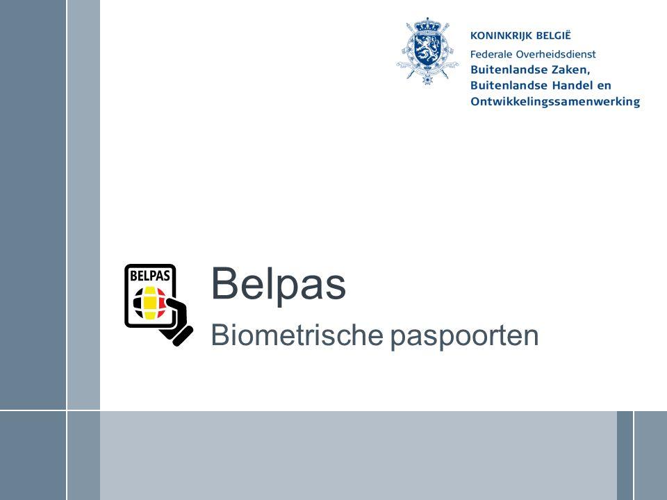 Belpas Biometrische paspoorten