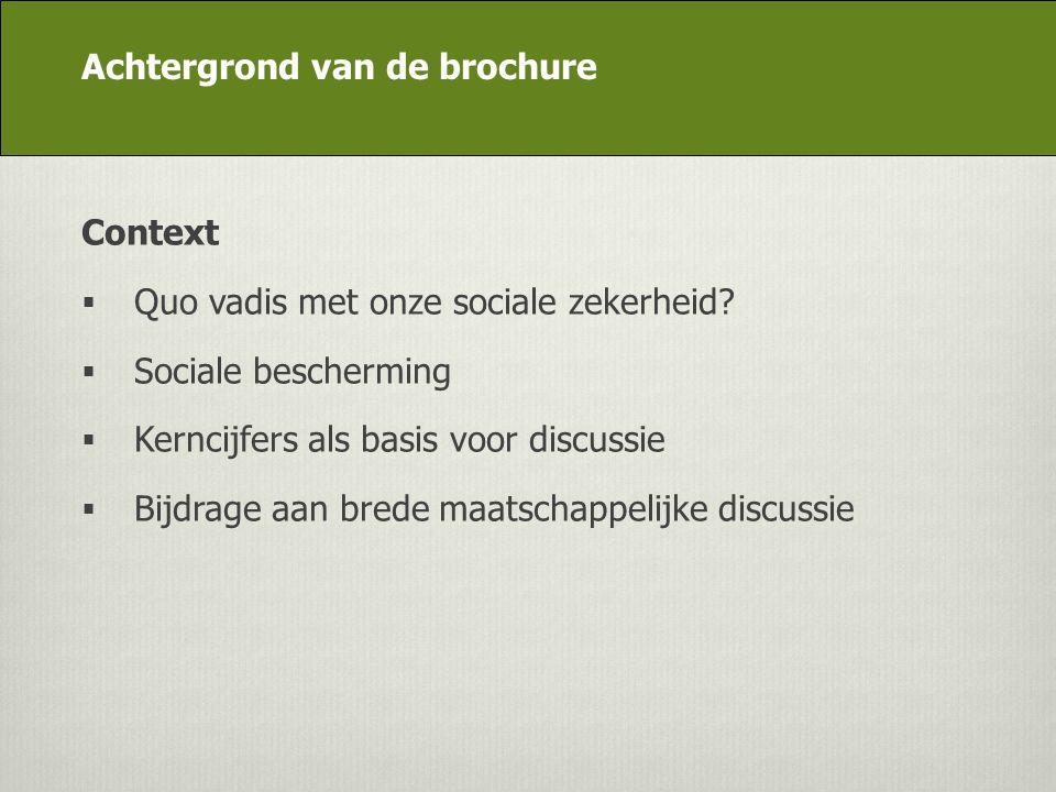 DG Appui stratégique Context  Quo vadis met onze sociale zekerheid?  Sociale bescherming  Kerncijfers als basis voor discussie  Bijdrage aan brede