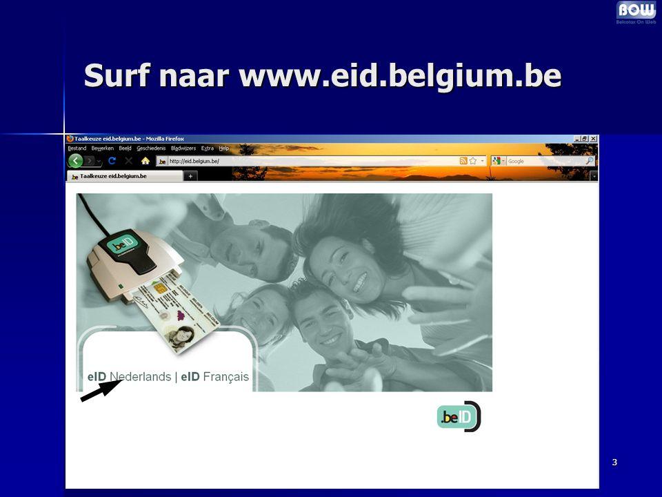 3 Surf naar www.eid.belgium.be