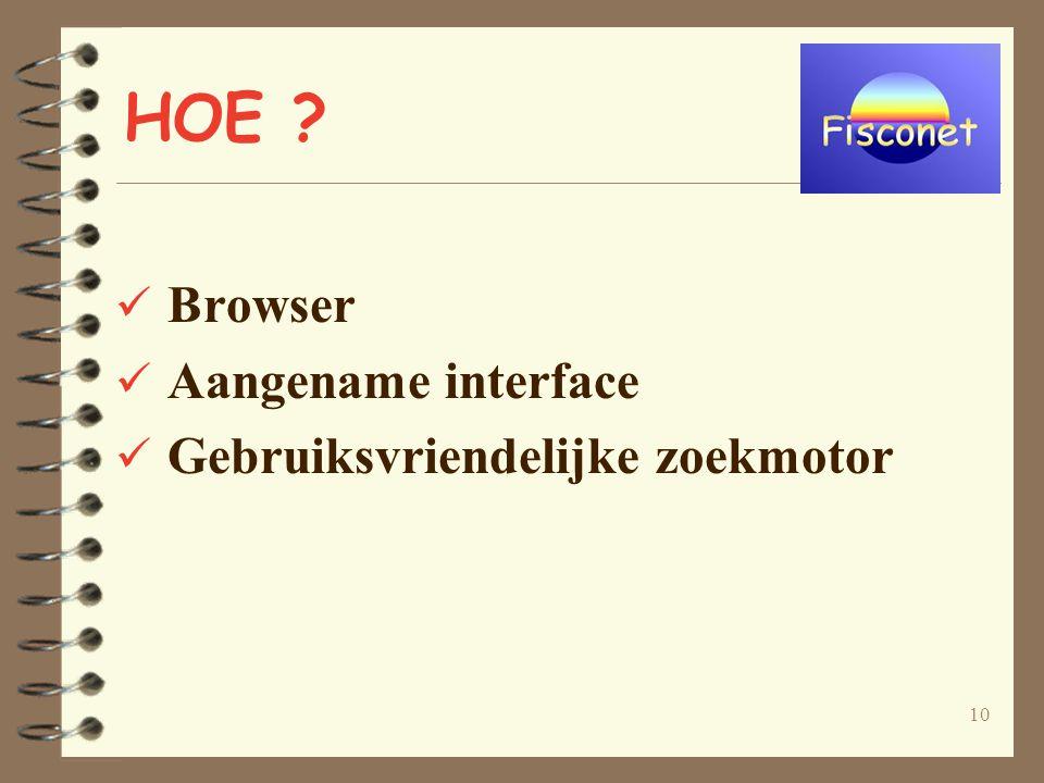 10 HOE Browser Aangename interface Gebruiksvriendelijke zoekmotor