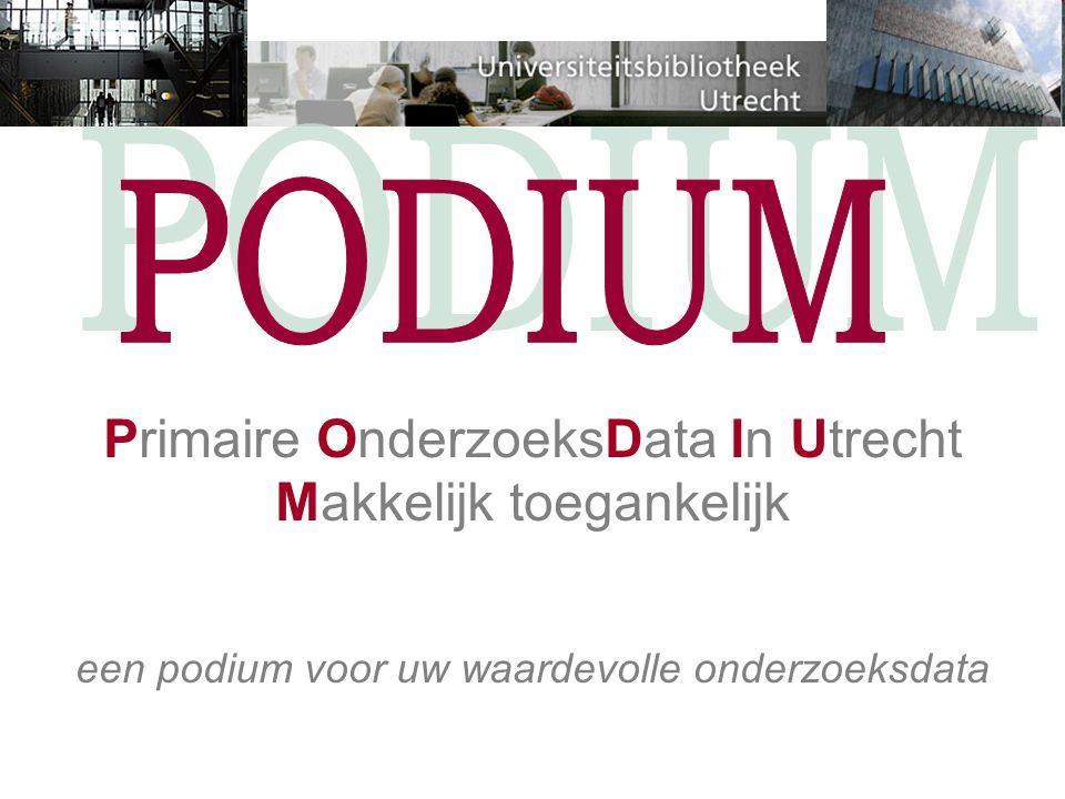 Primaire OnderzoeksData In Utrecht Makkelijk toegankelijk een podium voor uw waardevolle onderzoeksdata