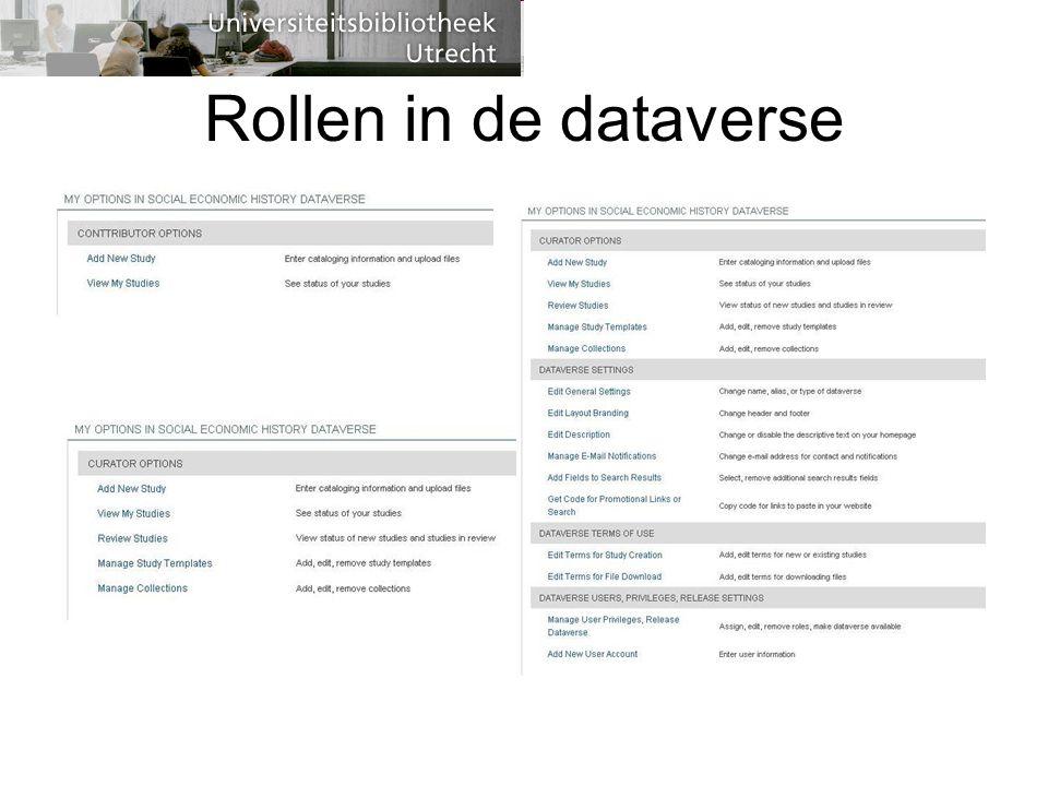 Rollen in de dataverse