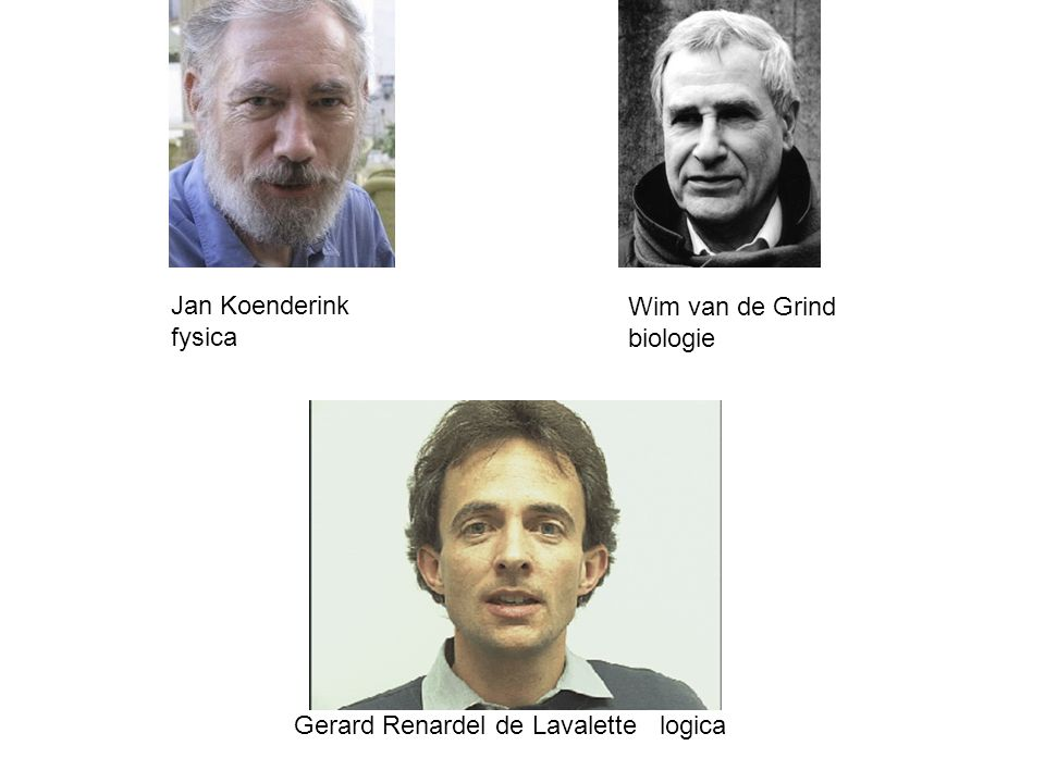 Jan Koenderink fysica Wim van de Grind biologie Gerard Renardel de Lavalette logica