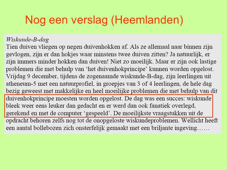 En dan de belangstelling in Vlaanderen 24 -11- 2005 om 22:31 Is er iemand die er met zijn klas aan meedoet.