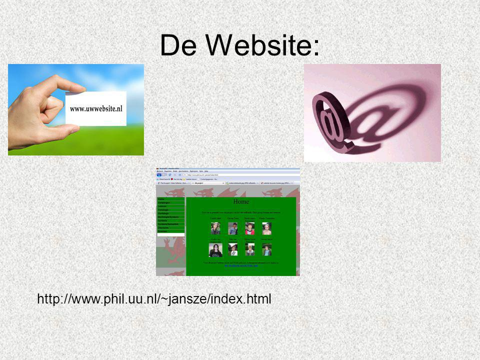 De Website: http://www.phil.uu.nl/~jansze/index.html