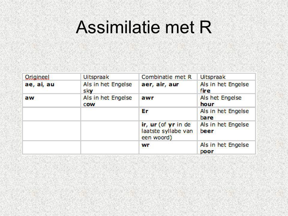 Assimilatie met R