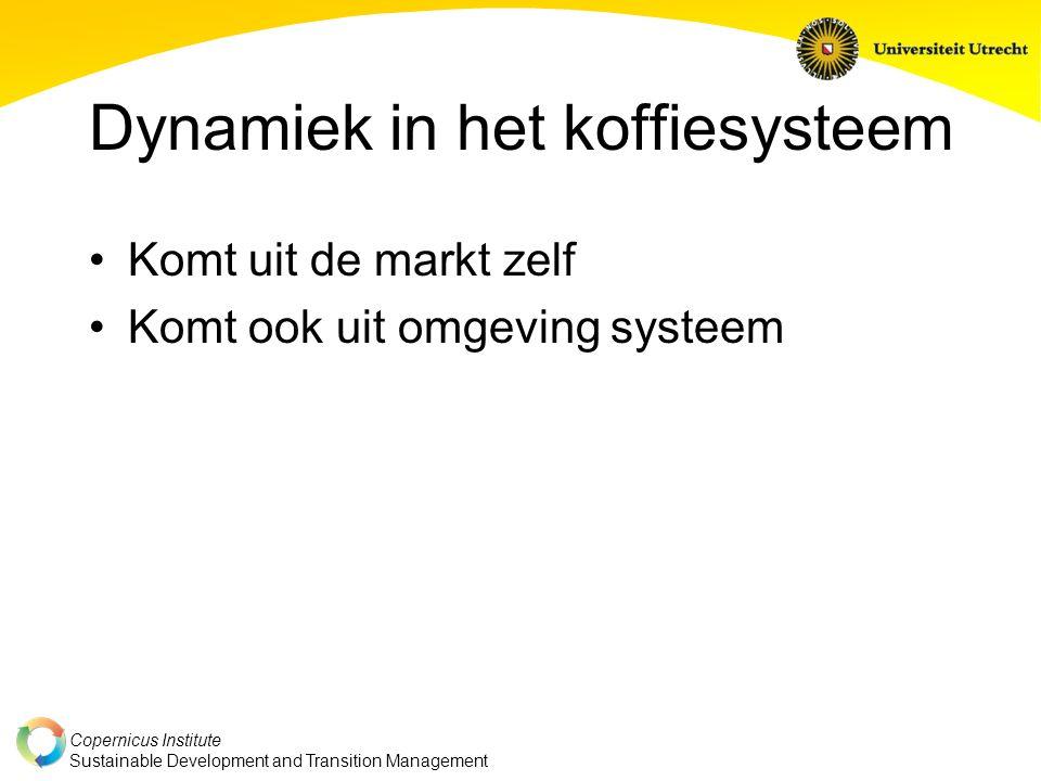 Copernicus Institute Sustainable Development and Transition Management De systemen waarop het transitiedenken zich richt zijn markten