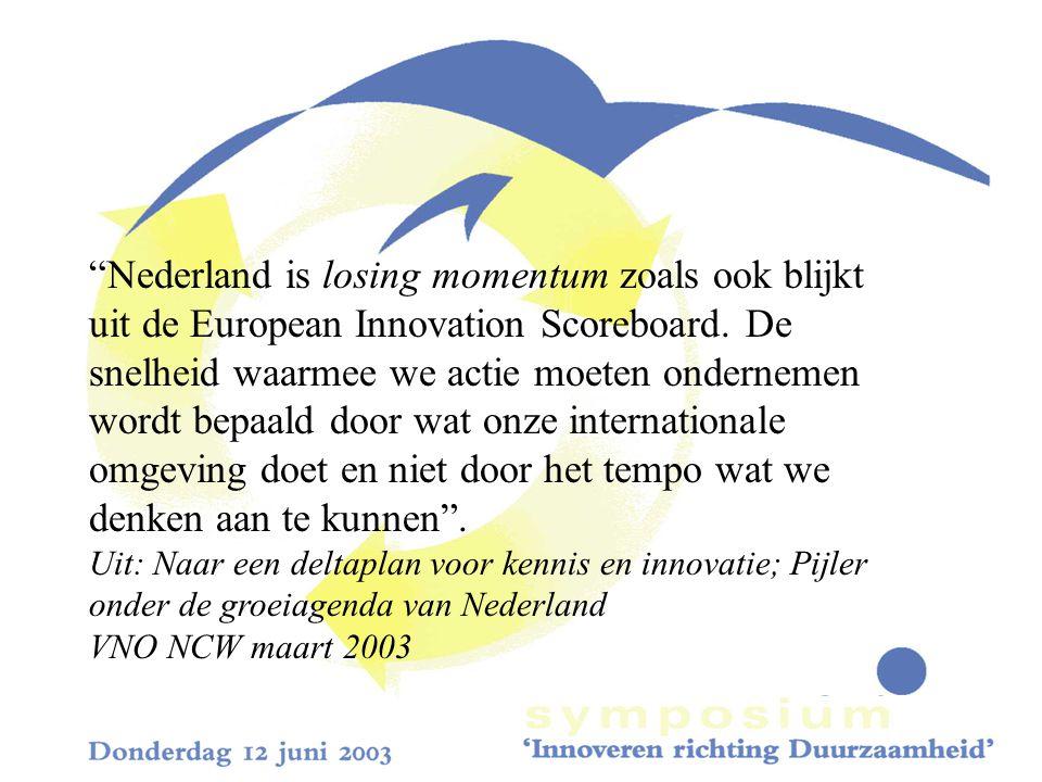 Nederland is losing momentum zoals ook blijkt uit de European Innovation Scoreboard.