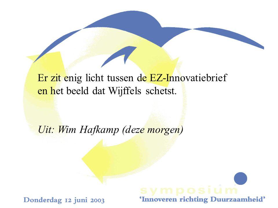 Er zit enig licht tussen de EZ-Innovatiebrief en het beeld dat Wijffels schetst.