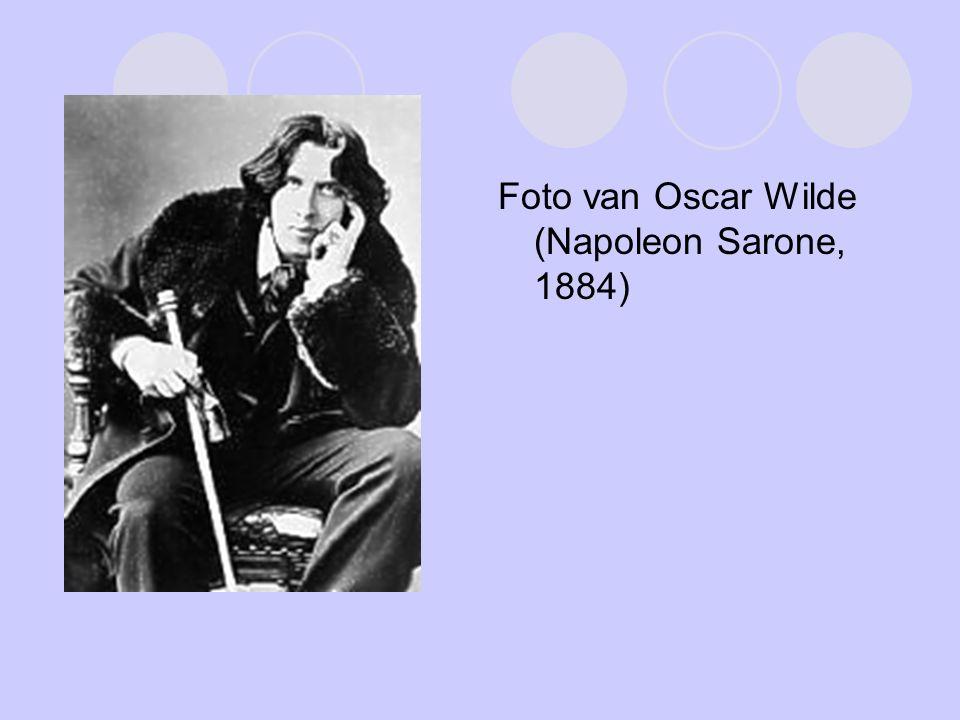 Foto van Oscar Wilde (Napoleon Sarone, 1884)