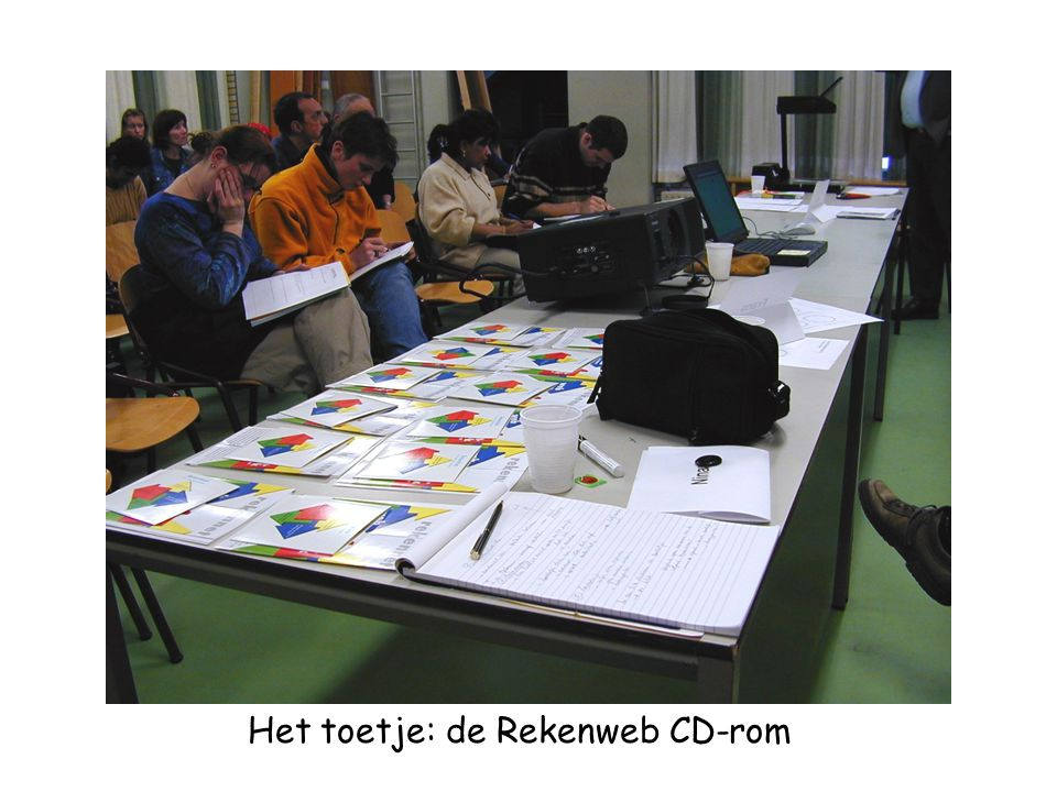 Het toetje: de Rekenweb CD-rom