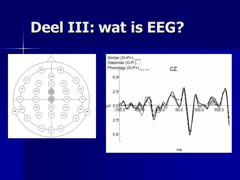Deel III: wat is EEG?