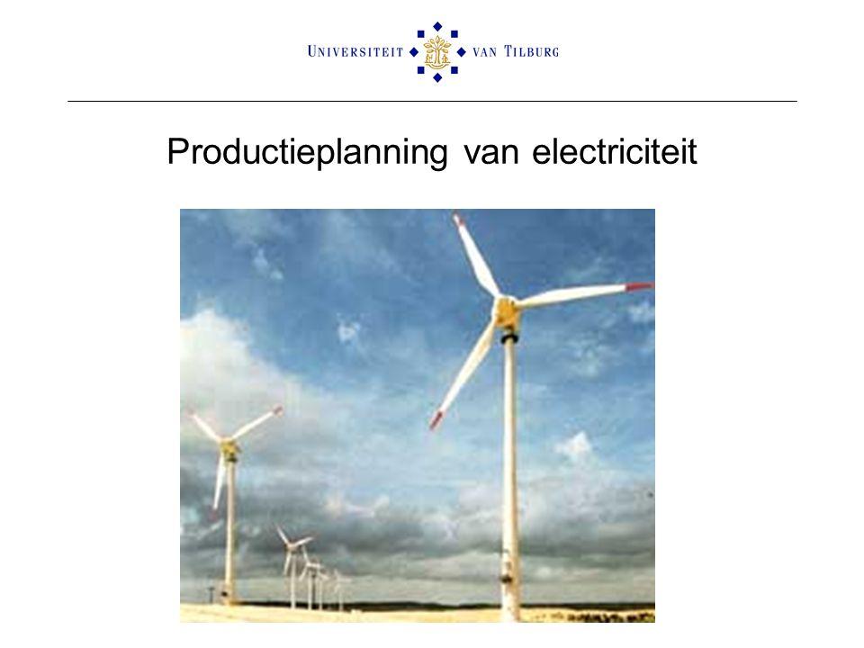 Productieplanning van electriciteit