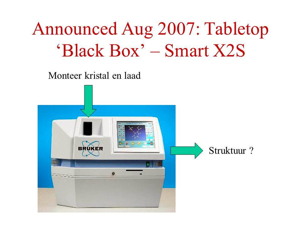 Announced Aug 2007: Tabletop 'Black Box' – Smart X2S Monteer kristal en laad Struktuur