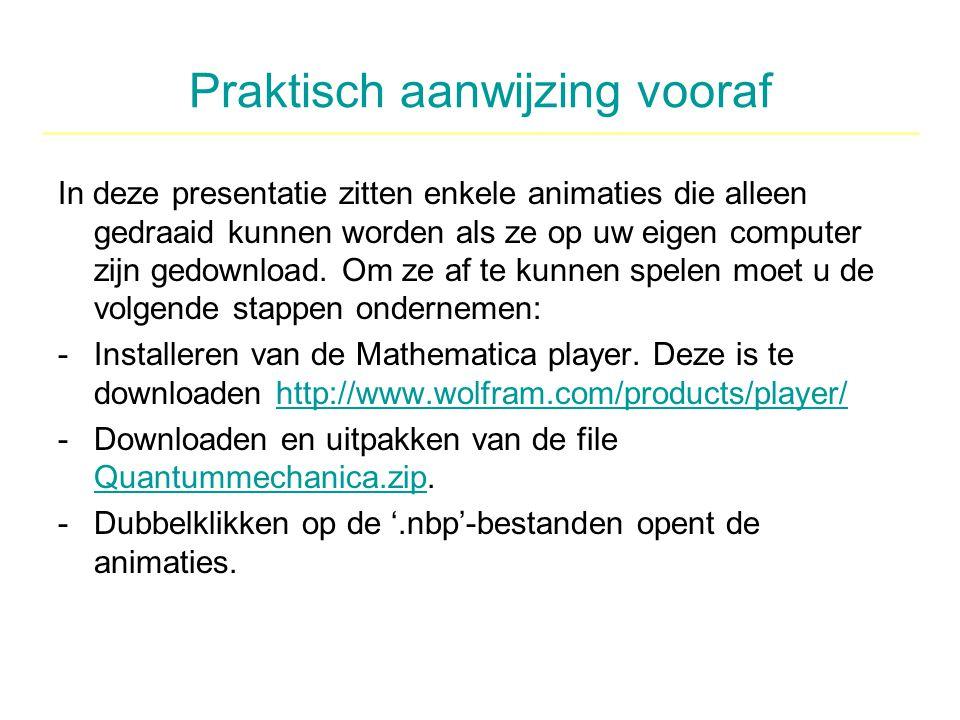 Praktisch aanwijzing vooraf In deze presentatie zitten enkele animaties die alleen gedraaid kunnen worden als ze op uw eigen computer zijn gedownload.