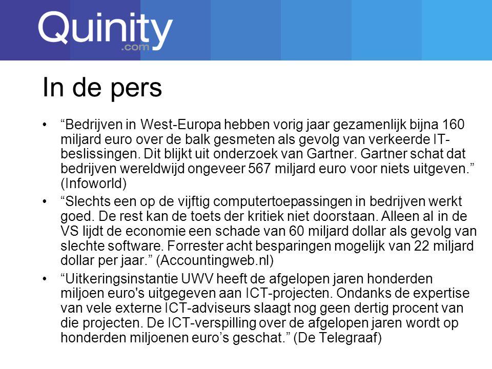 In de pers Bedrijven in West-Europa hebben vorig jaar gezamenlijk bijna 160 miljard euro over de balk gesmeten als gevolg van verkeerde IT- beslissingen.