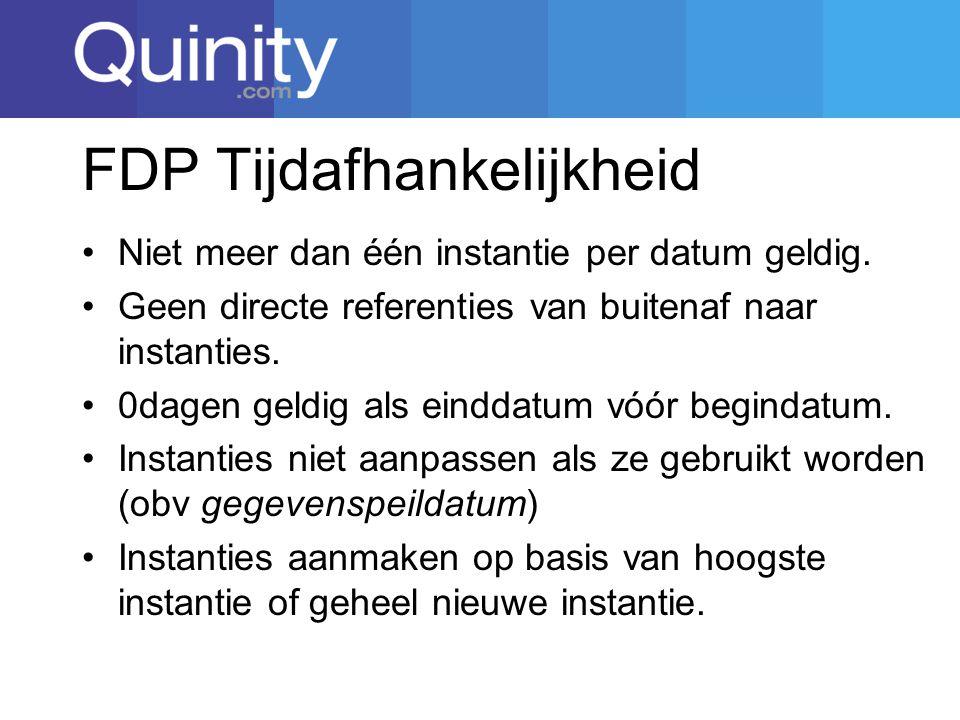 FDP Tijdafhankelijkheid Niet meer dan één instantie per datum geldig.
