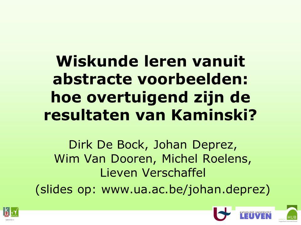 VLEKHO-HONIM Kaminski et al.uit het besluit (Kaminski et al., 2008, p.