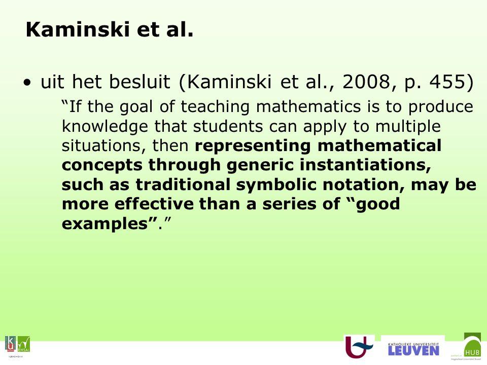 VLEKHO-HONIM Kaminski et al. uit het besluit (Kaminski et al., 2008, p.