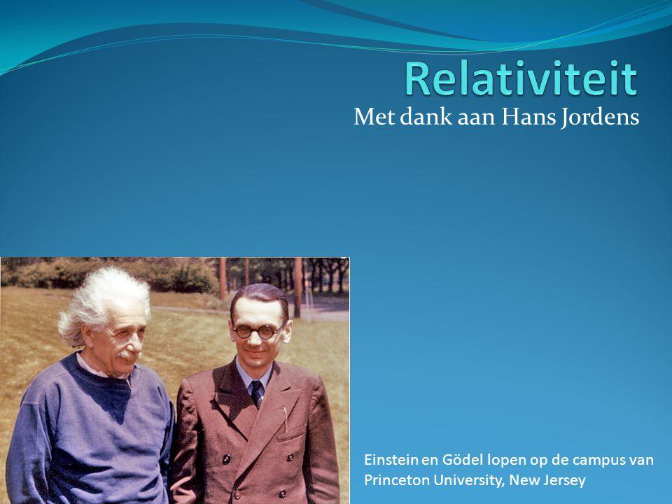 Met dank aan Hans Jordens Einstein en Gödel lopen op de campus van Princeton University, New Jersey
