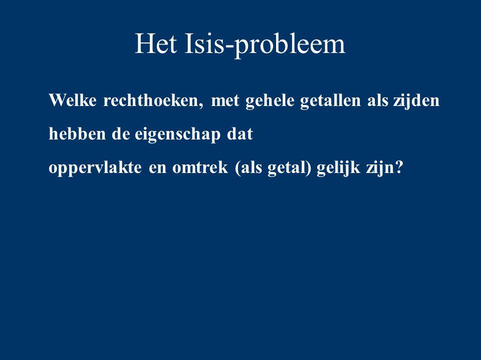 Het Isis-probleem 7 5 Omtrek: 24 Oppervlakte: 35
