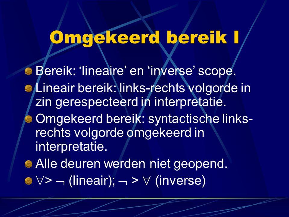 Omgekeerd bereik I Bereik: 'lineaire' en 'inverse' scope.