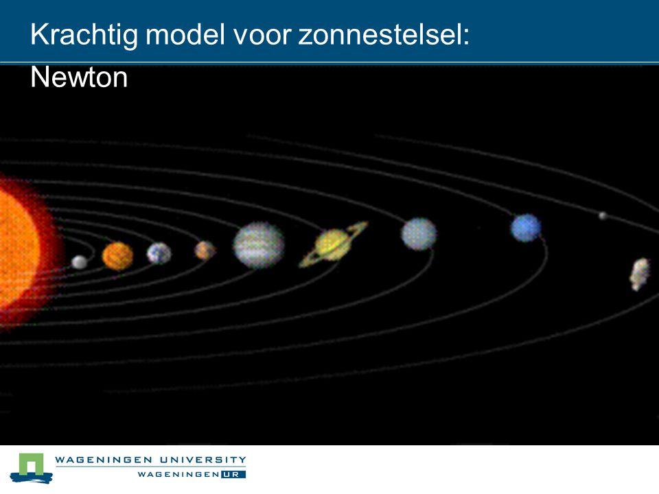 Krachtig model voor zonnestelsel: Newton