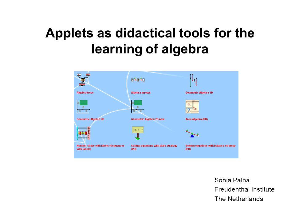 Area Algebra Start the applet Area Algebra.