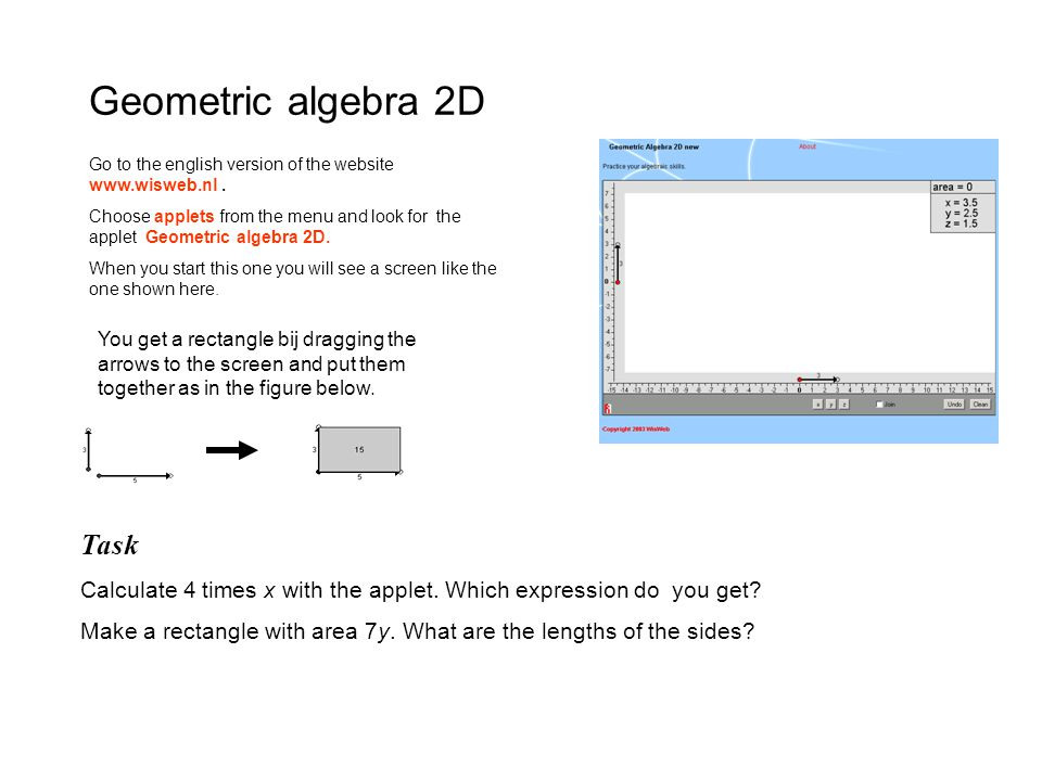 WELP – student material, december 2002 Task A rectangle with area 24 can have different shapes.