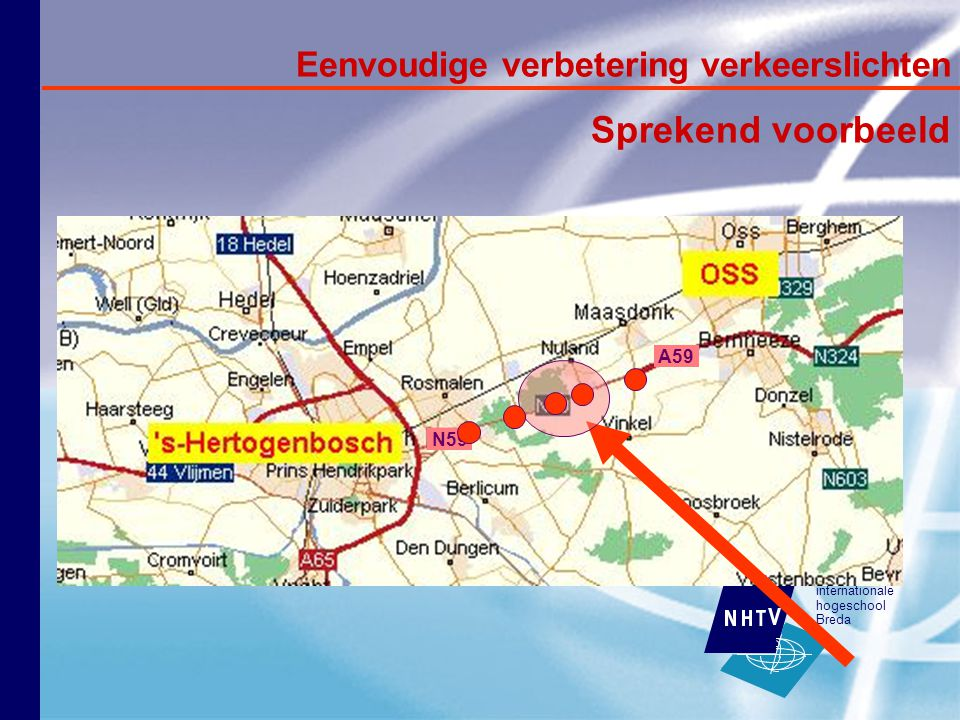internationale hogeschool Breda N59 Eenvoudige verbetering verkeerslichten Sprekend voorbeeld A59