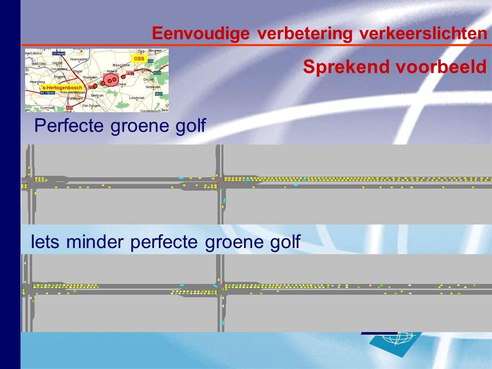 internationale hogeschool Breda Iets minder perfecte groene golf Perfecte groene golf Eenvoudige verbetering verkeerslichten Sprekend voorbeeld N59 A59