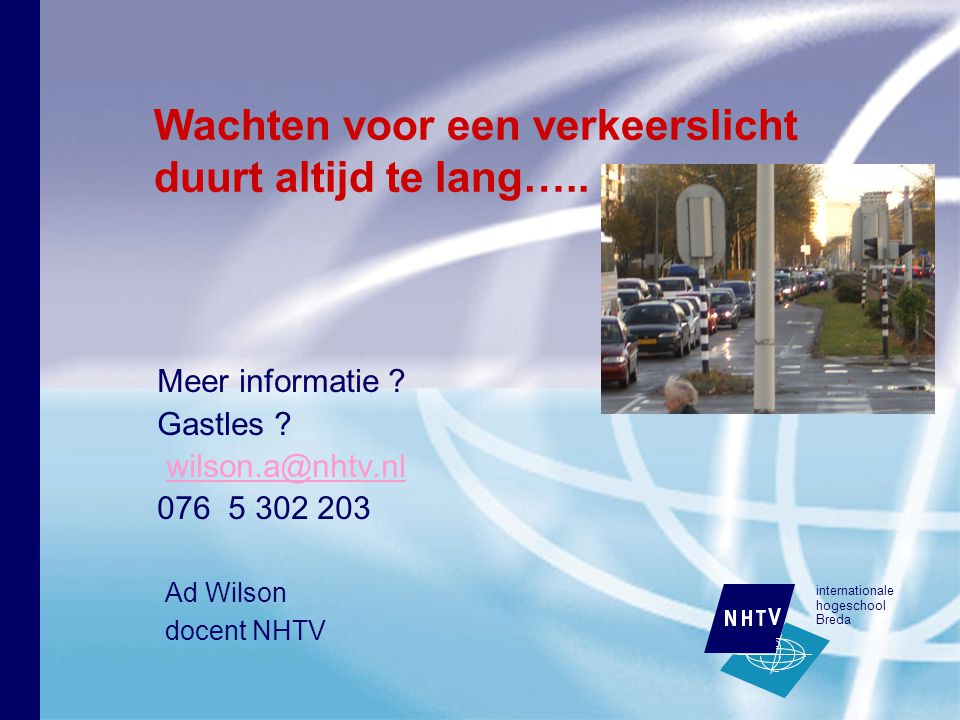 internationale hogeschool Breda Meer informatie .Gastles .