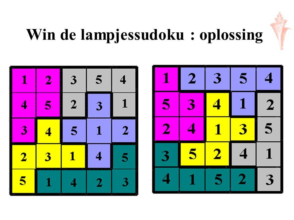 Win de lampjessudoku : oplossing