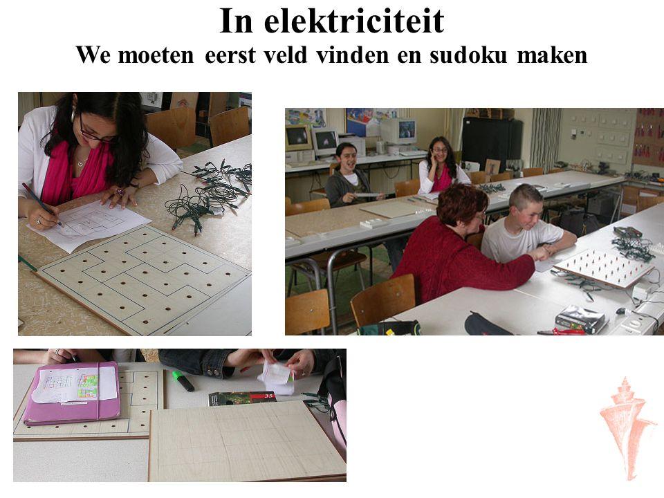 In elektriciteit We moeten eerst veld vinden en sudoku maken