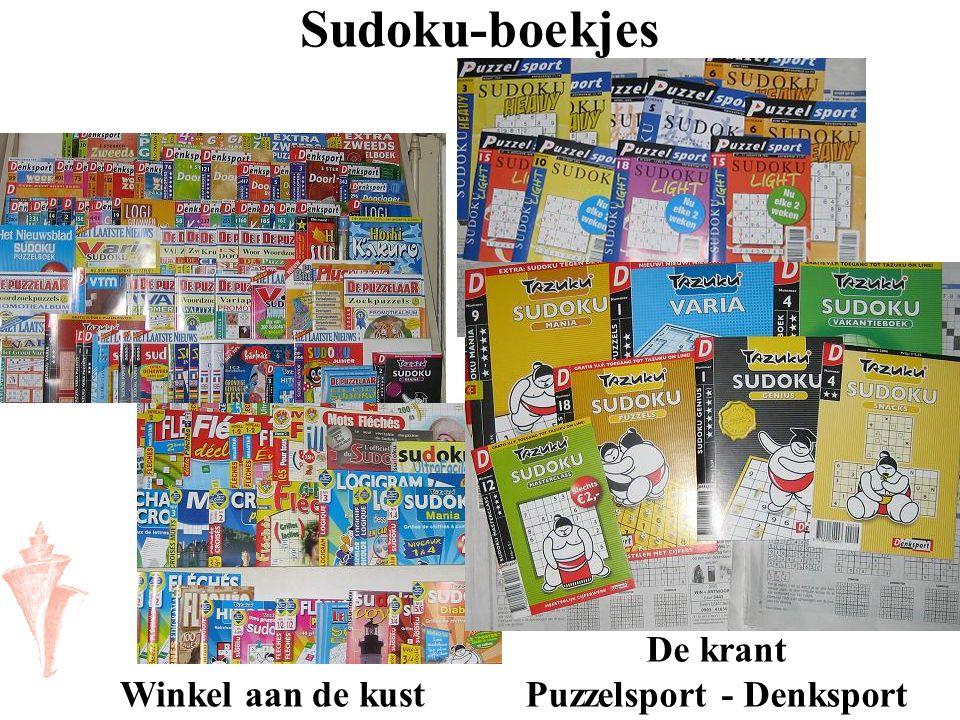 Sudoku-boekjes Winkel aan de kust De krant Puzzelsport - Denksport