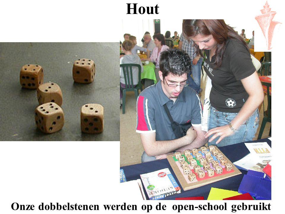 Hout Onze dobbelstenen werden op de open-school gebruikt