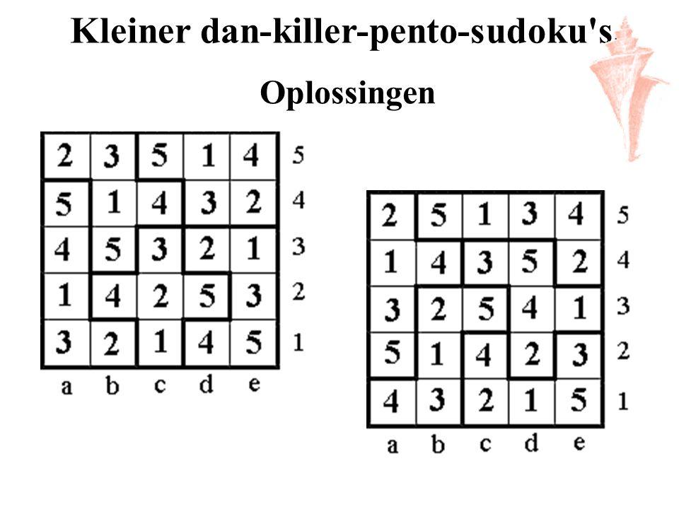 Kleiner dan-killer-pento-sudoku's. Oplossingen