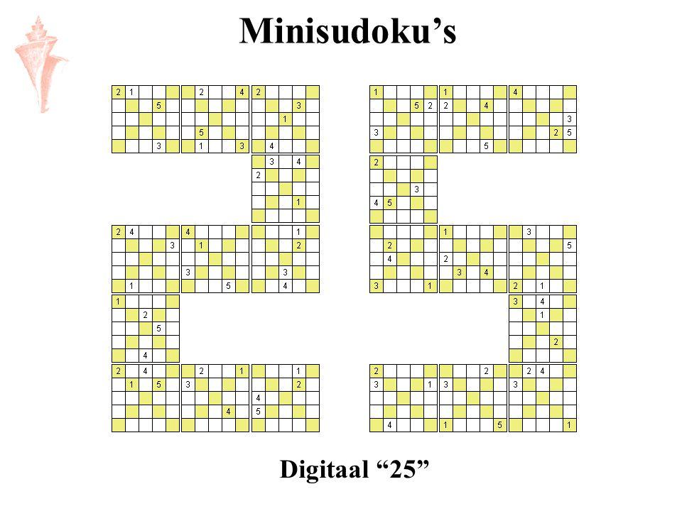 "Minisudoku's Digitaal ""25"""