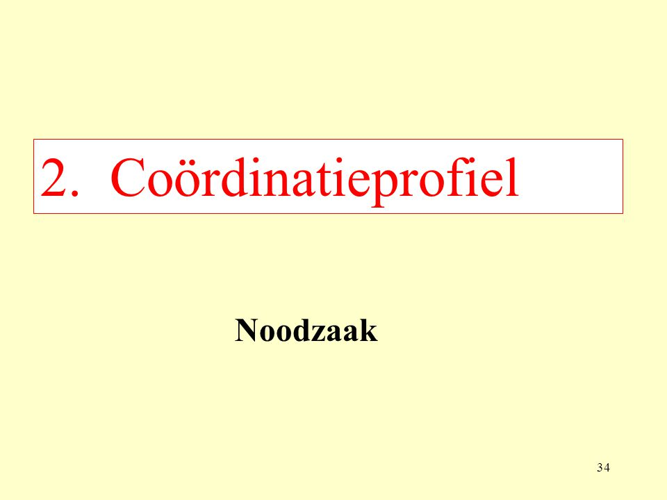 2. Coördinatieprofiel Noodzaak 34