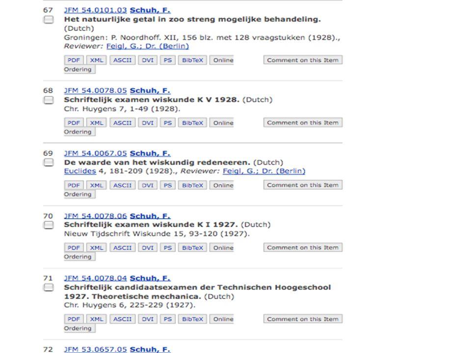 za 7 feb 2009De wonderlijke problemen van Schuh NWD 2009 nr 13