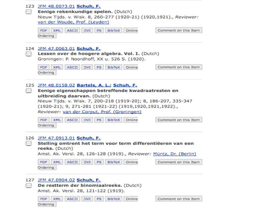 za 7 feb 2009De wonderlijke problemen van Schuh NWD 2009 nr 14