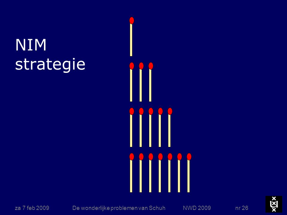 za 7 feb 2009De wonderlijke problemen van Schuh NWD 2009 nr 26 NIM strategie