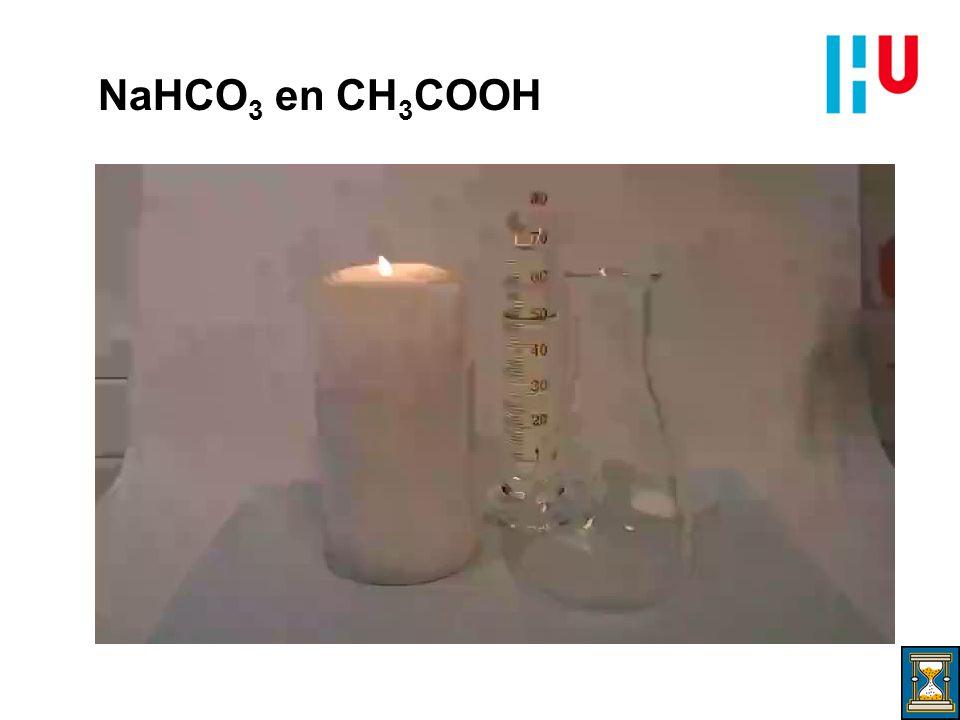 NaHCO 3 en CH 3 COOH