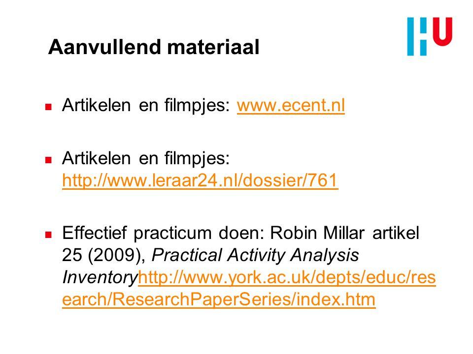 Aanvullend materiaal n Artikelen en filmpjes: www.ecent.nlwww.ecent.nl n Artikelen en filmpjes: http://www.leraar24.nl/dossier/761 http://www.leraar24