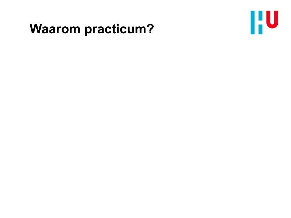 Verschillende practica n Docentenpracticum: n Demonstratieproef n Leerlingenpracticum: n Apparatenpracticum / vaardighedenpracticum n Begripspracticum n Onderzoekspracticum