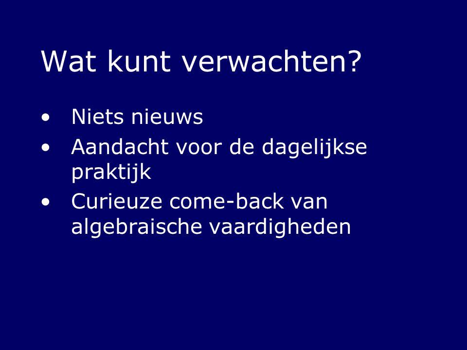 Actualiteit Aansluitproblematiek VO-HO Gebrekkige formulevaardigheden Entreetoetsen, bv: http://www.fee.uva.nl/ke/tennapel http://www.fee.uva.nl/ke/tennapel Studenten zelf: http://www.lievemaria.nl http://www.lievemaria.nl Docenten in het VO merken op school ook iets