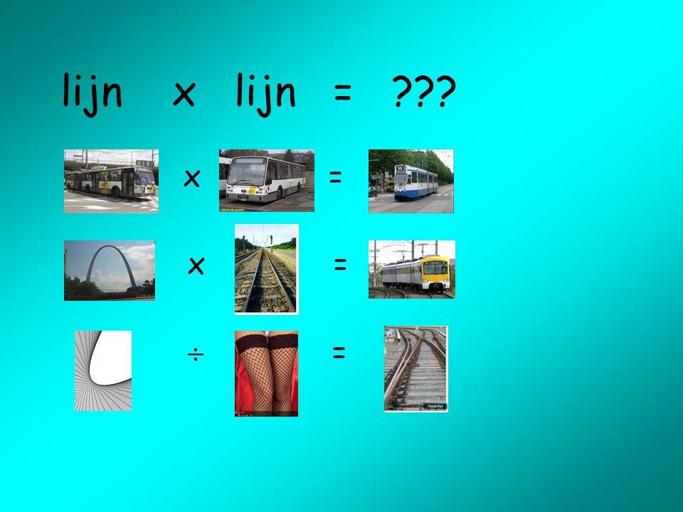lijn x lijn = ??? x=  =