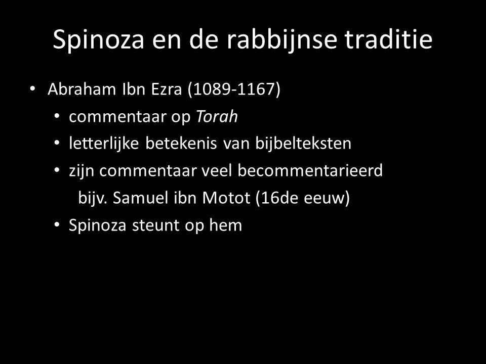 Spinoza en de rabbijnse traditie Abraham Ibn Ezra (1089-1167) commentaar op Torah letterlijke betekenis van bijbelteksten zijn commentaar veel becomme