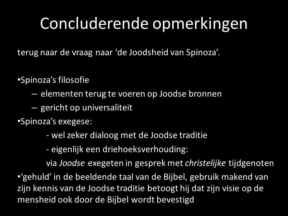 Concluderende opmerkingen terug naar de vraag naar 'de Joodsheid van Spinoza'. Spinoza's filosofie – elementen terug te voeren op Joodse bronnen – ger