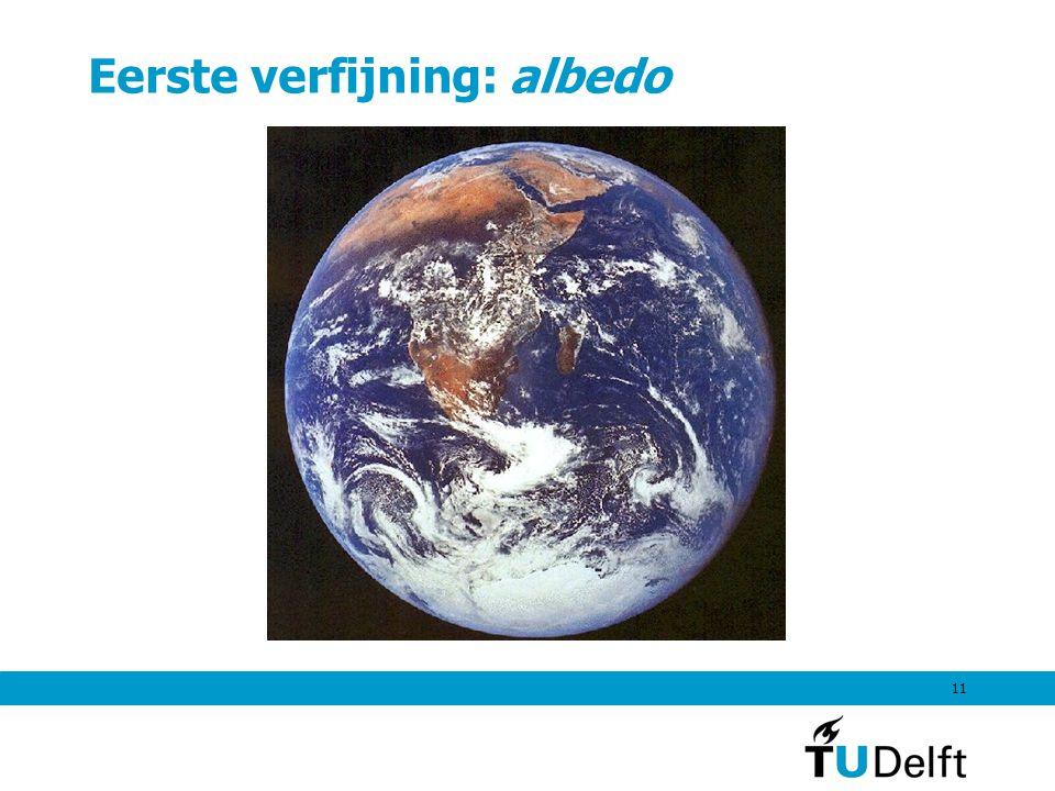 11 Eerste verfijning: albedo
